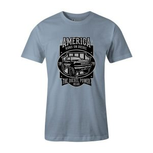 Runs on Diesel T Shirt Baby Blue