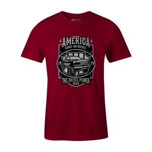 Runs on Diesel T Shirt Cardinal