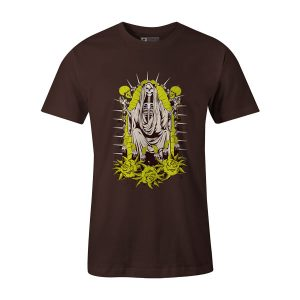 Santa Muerte T Shirt Brown