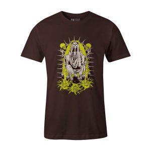 Santa Muerte T Shirt Brown