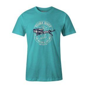 Scuba Diver T Shirt Aqua
