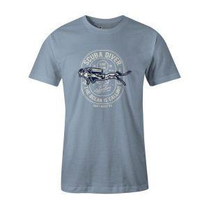 Scuba Diver T Shirt Baby Blue