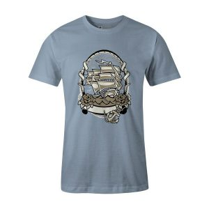Ship Anchored T Shirt Baby Blue