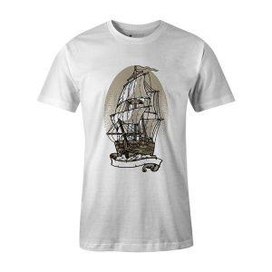 Ship Set Sail T Shirt White