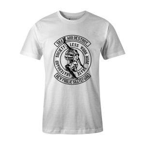 Skate and Destroy T Shirt White