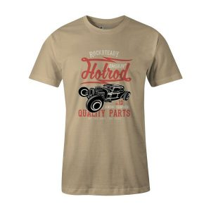 Smokin Hotrod T Shirt Natural