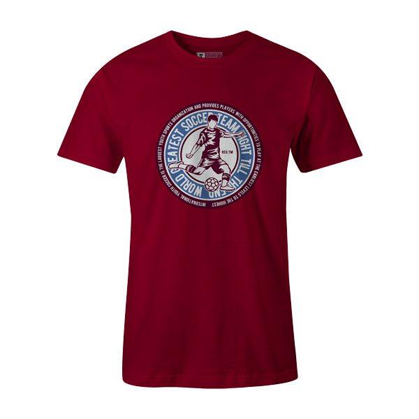 Soccer T Shirt Cardinal