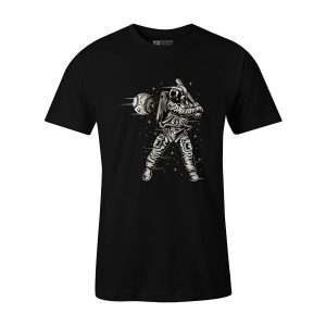 Space Baseball T Shirt Black