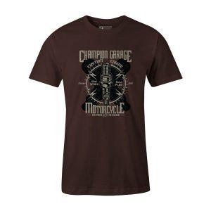 Spark Plug T Shirt Brown