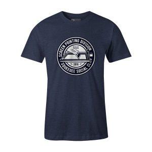 Squeegee Social Club T Shirt Heather Denim