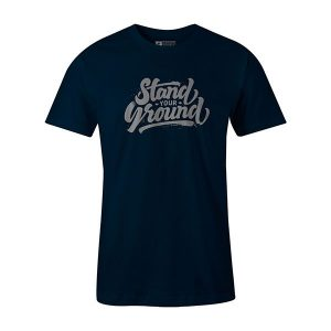 Stand Your Ground T shirt navy