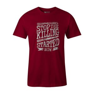 Stop The Killing Started Now T shirt cardinal