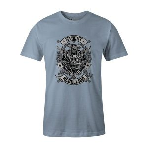 Street Rebellion T Shirt Baby Blue