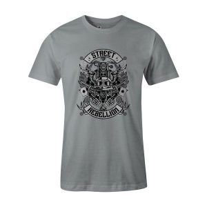 Street Rebellion T Shirt Silver