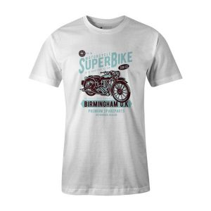 Super Bike T Shirt White