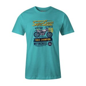 Super Cross T Shirt Aqua