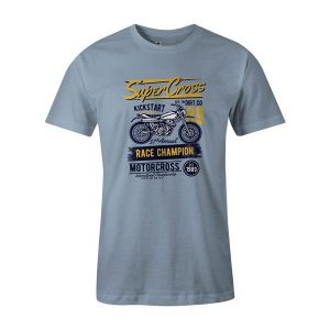 Super Cross T Shirt Baby Blue