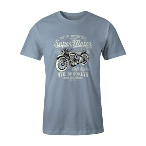 Super Motor T Shirt Baby Blue