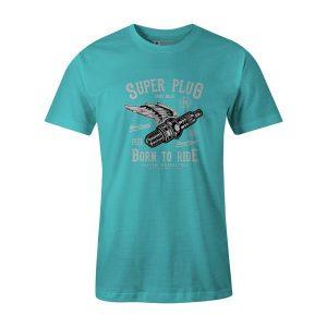 Super Plug T Shirt Aqua