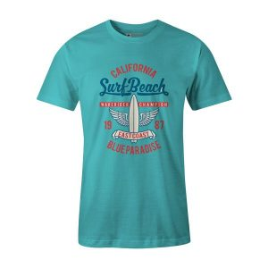 Surf Beach T Shirt Aqua