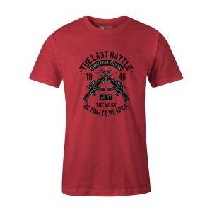 The Last Battle T Shirt Heather Red