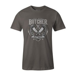 The Real Butcher T Shirt Charcoal