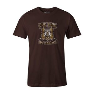 The King T shirt brown
