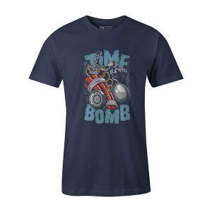 Time Bomb T shirt heather denim