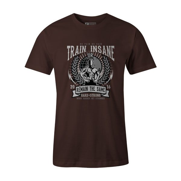 Train Insane T Shirt Brown