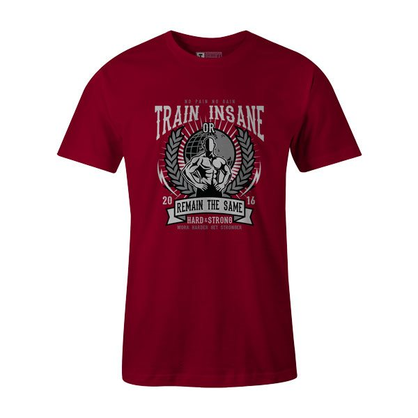 Train Insane T Shirt Cardinal