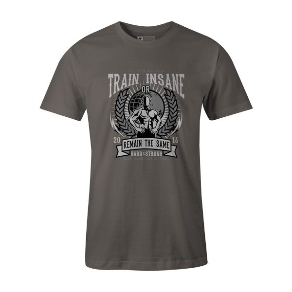 Train Insane T Shirt Charcoal