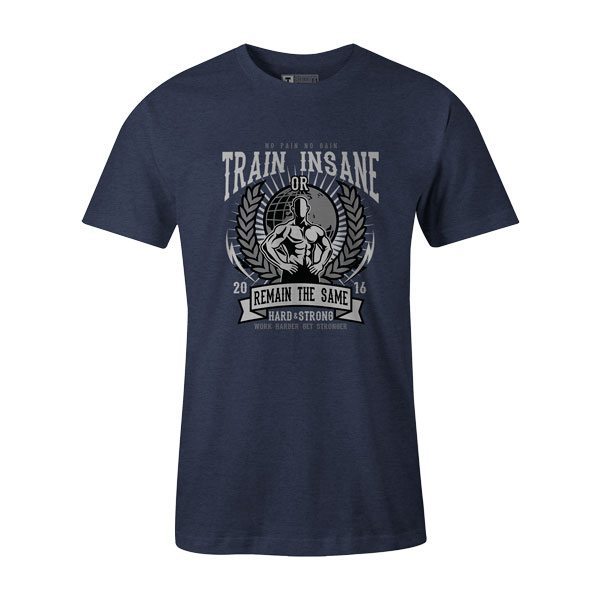 Train Insane T Shirt Heather Denim