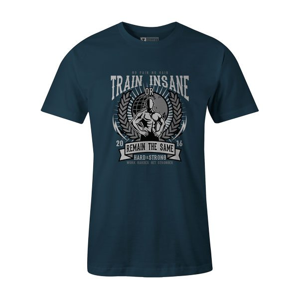 Train Insane T Shirt Indigo