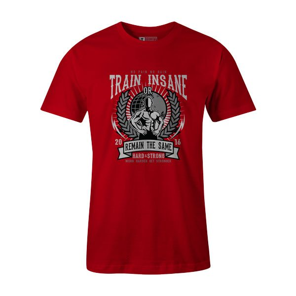 Train Insane T Shirt Red