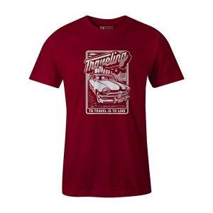 Traveling T shirt cardinal