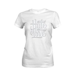 Turn Hate Into Love T shirt white