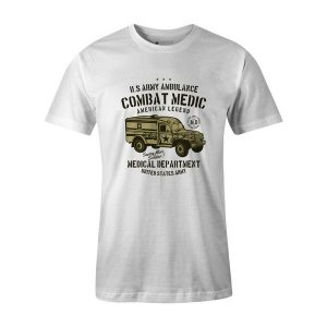 US Army Ambulance T Shirt White