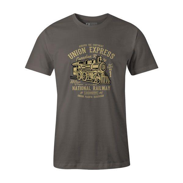 Union Express T Shirt Charcoal