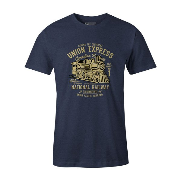 Union Express T Shirt Heather Denim