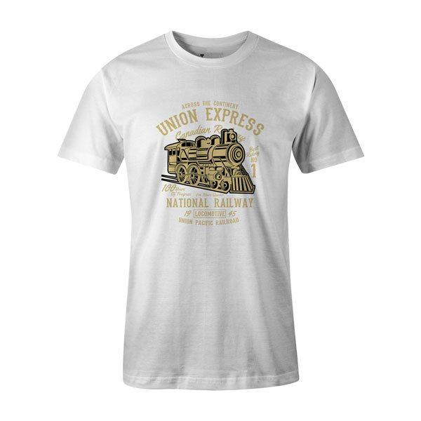 Union Express T Shirt White