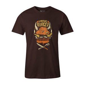 Viking Burger T shirt brown