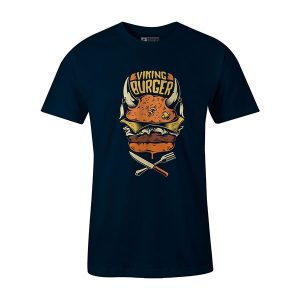 Viking Burger T shirt navy
