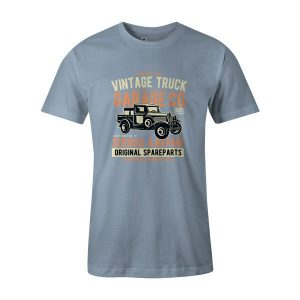 Vintage Truck T Shirt Baby Blue