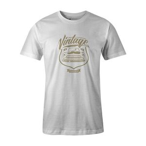 Vintage Car T shirt white