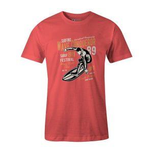 Wave Conqueror T Shirt Coral