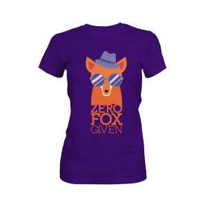 Zero Fox Given T Shirt Purple Rush
