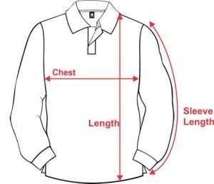 Long Sleeve Polo Shirt Artwork for Size Chart large