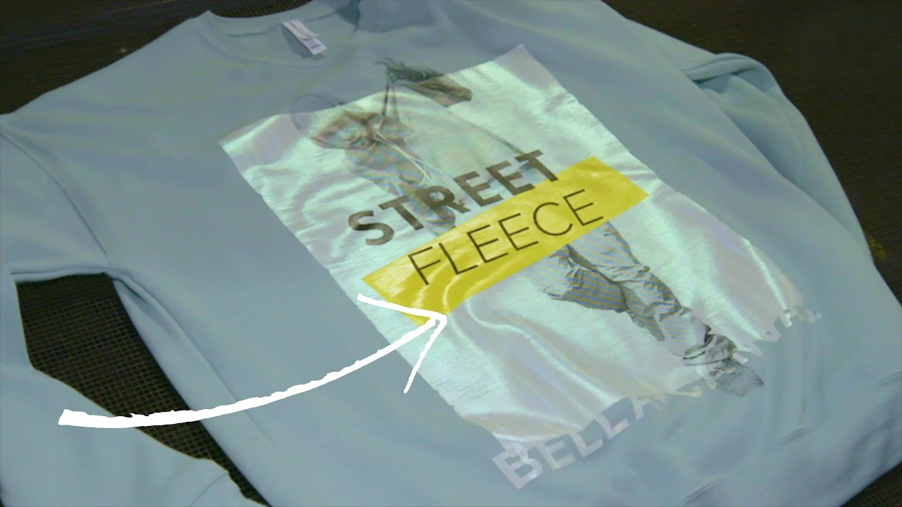 Printing a Holographic Design on Fleece with Mixed Media